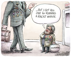 Steve Bannon credentials  by Adam Zyglis