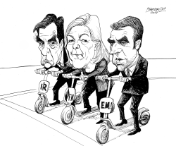 French Presidential Race Candidates by Petar Pismestrovic