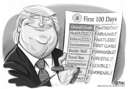 First 100 Days Report Card by RJ Matson