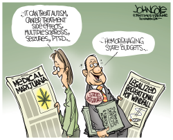 Leaglized pot and state budgets by John Cole