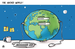 Hacked World by Emad Hajjaj