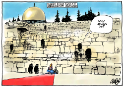 Trump visits Wailing Wall by Jos Collignon