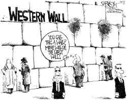 Trump at the Wall by John Darkow