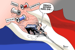 Macron's French reform by Paresh Nath