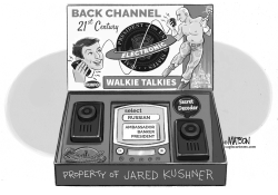 Jared Kushner Back Channel Walkie Talkies by RJ Matson