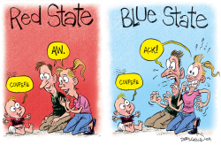 Covfefe Red State Blue State Baby by Daryl Cagle