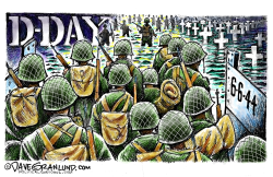 D-Day June 6 44  by Dave Granlund