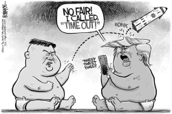 Trump and Kim by Rick McKee