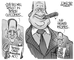 Pat Toomey Wealth Care BW by John Cole