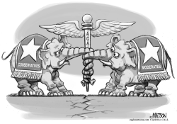 Republican Health Care Reform Tug of War by RJ Matson