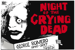 GEORGE ROMERO, RIP,  by Randy Bish