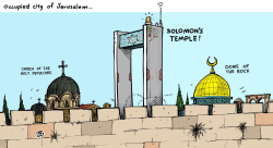 Occupied Jerusalem by Emad Hajjaj