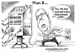 Obamacare repeal plan B by Dave Granlund