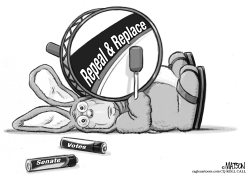 Repeal and Replace Energizer Bunny Mitch McConnell by RJ Matson