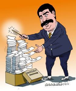 Maduro and the multiplications of the votes by Arcadio Esquivel