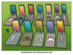 smartphone and driving by Arend Van Dam