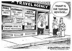 Trump insults and tourism by Dave Granlund