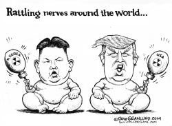Kim and Trump nuke threats by Dave Granlund