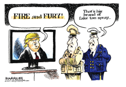 Trump Fire and Fury color by Jimmy Margulies
