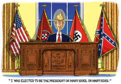 Trump Is The President On Many Sides by RJ Matson