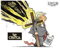 Trump's crutch by John Cole