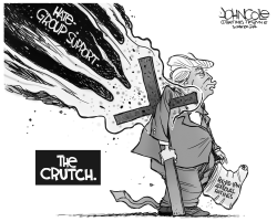 Trump's crutch BE by John Cole