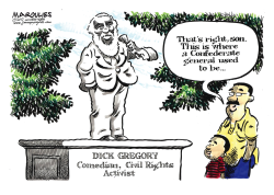 Dick Gregory Obituary color by Jimmy Margulies