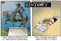 STATUES AND HISTORY,  by Randy Bish