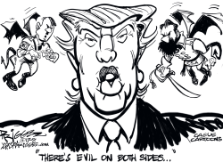 Both Trump Sides by Milt Priggee