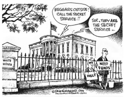 Secret Service funding by Dave Granlund