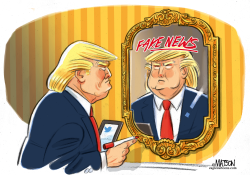 Trump Sees Fake News in the Mirror by RJ Matson
