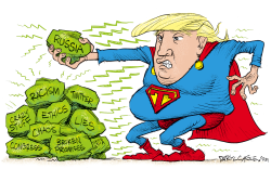 Trump Kryptonite by Daryl Cagle