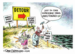 Hurricane Irma tracking  by Dave Granlund