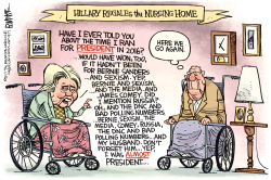 Hillary Excuses by Rick McKee
