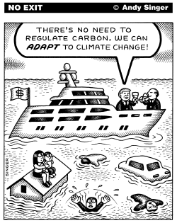 Rich Adapt to Climate Change by Andy Singer