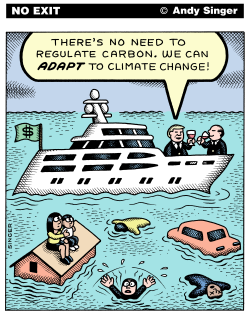 Rich Adapt to Climate Change color version by Andy Singer