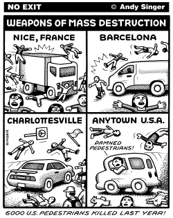 Cars Are Weapons of Mass Destruction by Andy Singer