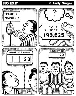 Take A Number by Andy Singer