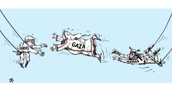 Gaza transition by Emad Hajjaj