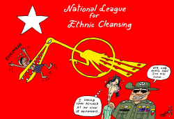 National League for Ethnic Cleansing by Stephane Peray