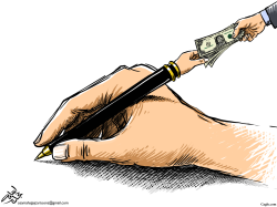 corruption hands by Osama Hajjaj
