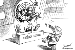 Trump's war threats at the UN by Patrick Chappatte