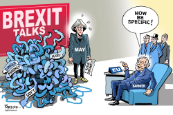 BREXIT talks and May by Paresh Nath