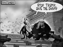Bipartisanship Trump Swamp by Sean Delonas