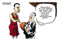 College basketball scandal color by Jimmy Margulies