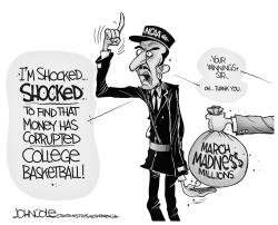 NCAA scandal BW by John Cole