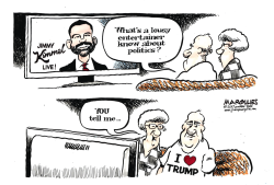 Jimmy Kimmel talks politics color by Jimmy Margulies