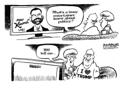 Jimmy Kimmel talks politics by Jimmy Margulies