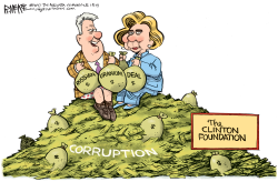 Clinton Foundation by Rick McKee