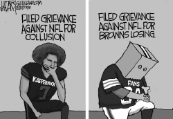 NFL Kneeling Protests by Jeff Darcy